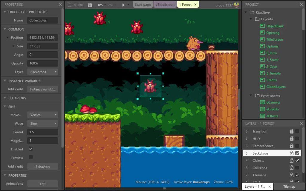 Construct 3 удобный современный движок для создания игр