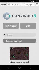 Construct 3 на мобильных устройствах